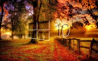Windows 10 in the fall glass logo wallpaper 2880x1800 jpg