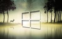 Windows 10 in the foggy forest [3] wallpaper 1920x1080 jpg