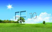 Windows 10 in the spring glass logo wallpaper 1920x1200 jpg