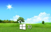 Windows 10 in the spring simple logo wallpaper 1920x1200 jpg