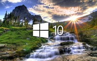 Windows 10 in the stream simple logo wallpaper 1920x1080 jpg