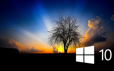 Windows 10 in the twilight [6] wallpaper
