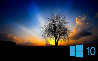 Windows 10 in the twilight [2] Wallpaper