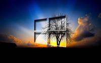 Windows 10 in the twilight wallpaper 1920x1080 jpg