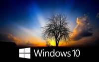 Windows 10 in the twilight [4] wallpaper 1920x1080 jpg