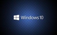 Windows 10 white text logo on a blue grid wallpaper 3840x2160 jpg