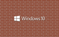 Windows 10 text logo on a brick wall wallpaper 3840x2160 jpg
