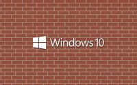 Windows 10 text logo on a brick wall wallpaper 3840x2160 jpg
