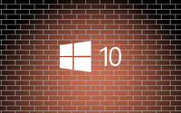 Windows 10 simple logo on a brick wall wallpaper 3840x2160 jpg