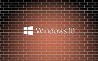 Windows 10 white text logo on a brick wall wallpaper 3840x2160 jpg