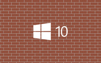 Windows 10 white logo on a brick wall wallpaper 3840x2160 jpg