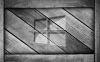 Windows 10 on a gray wooden crate wallpaper 1920x1080 jpg