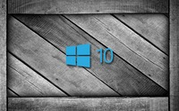 Windows 10 on a gray wooden crate [4] wallpaper 1920x1080 jpg