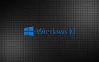 Windows 10 blue text logo on a grid wallpaper 3840x2160 jpg