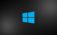 Windows 10 simple blue logo on a grid wallpaper 3840x2160 jpg