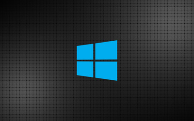 Windows 10 simple blue logo on a grid wallpaper