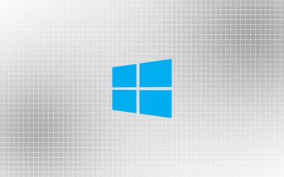 Windows 10 on a light grid wallpaper