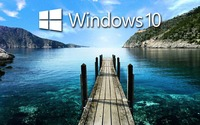 Windows 10 on the pier text logo wallpaper 1920x1080 jpg