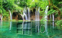 Windows 10 on a waterfall glass logo wallpaper 1920x1080 jpg