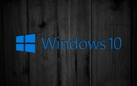 Windows 10 on black wooden panels [2] wallpaper 1920x1080 jpg