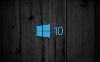 Windows 10 on black wooden panels [3] wallpaper 1920x1080 jpg