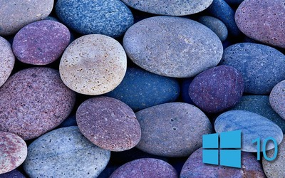 Windows 10 on blue rocks [3] wallpaper