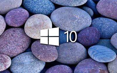 Windows 10 on blue rocks [4] wallpaper