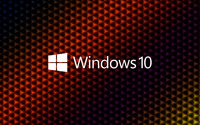 Windows 10 white text logo on colorful cubes wallpaper 3840x2160 jpg