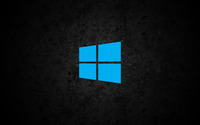 Windows 10 simple blue logo on concrete wallpaper 3840x2160 jpg