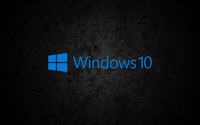 Windows 10 blue text logo on concrete wallpaper 3840x2160 jpg