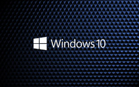 Windows 10 white text logo on cube pattern [2] wallpaper 3840x2160 jpg