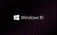 Windows 10 white text logo on cube pattern wallpaper 3840x2160 jpg