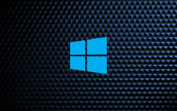 Windows 10  simple blue logo on cube pattern wallpaper 3840x2160 jpg