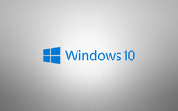 Windows 10 blue text logo on grainy gray wallpaper 3840x2160 jpg
