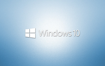 Windows 10 white text logo on light blue [2] wallpaper