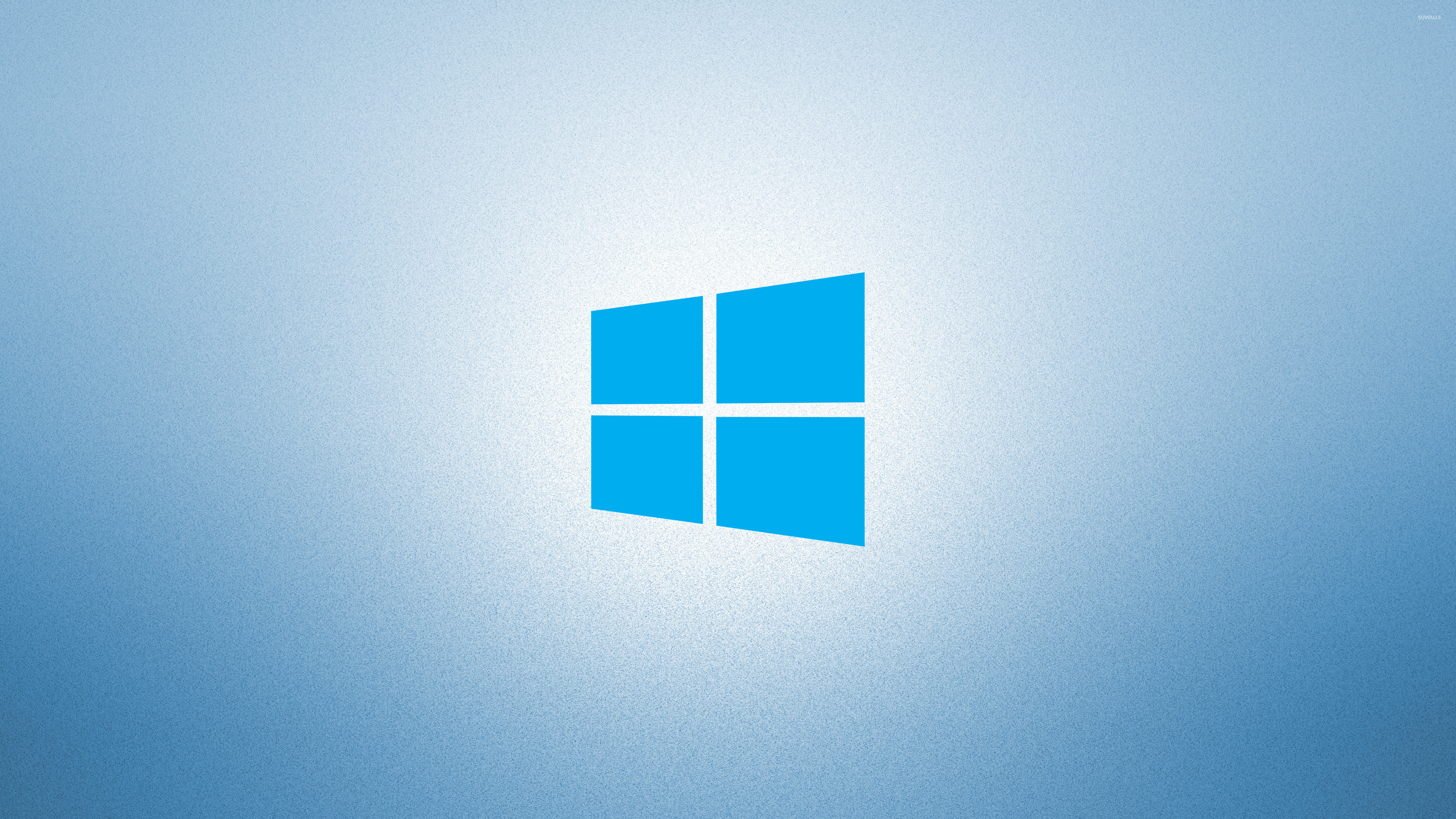 windows 10 on light blue simple blue logo wallpaper - computer