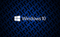 Windows 10 on metallic grid white text logo wallpaper 3840x2160 jpg