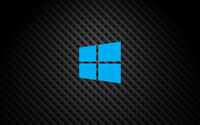 Windows 10 on square pattern simple blue logo wallpaper 3840x2160 jpg