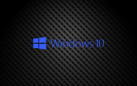 Windows 10 on square pattern blue text logo wallpaper 3840x2160 jpg