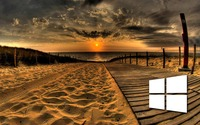 Windows 10 on the boardwalk simple logo wallpaper 1920x1080 jpg