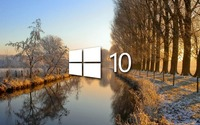 Windows 10 on the frosty river [3] wallpaper 1920x1080 jpg