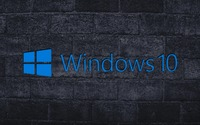 Windows 10 on the gray brick wall [2] wallpaper 1920x1080 jpg