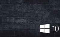 Windows 10 on the gray brick wall [6] wallpaper 1920x1080 jpg