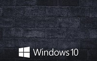 Windows 10 on the gray brick wall [5] wallpaper 1920x1080 jpg