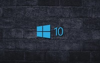 Windows 10 on the gray brick wall [4] wallpaper 1920x1080 jpg