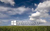 Windows 10 on the green field [4] wallpaper 1920x1200 jpg