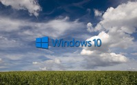 Windows 10 on the green field [3] wallpaper 1920x1200 jpg