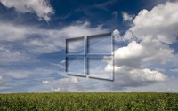 Windows 10 on the green field wallpaper 1920x1200 jpg