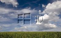Windows 10 on the green field [2] wallpaper 1920x1200 jpg