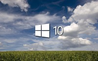 Windows 10 on the green field [5] wallpaper 1920x1200 jpg